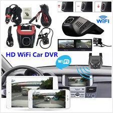 HD Hidden Wifi Car DVR Video Recorder & Rear Camera Kit Night Vision App Control