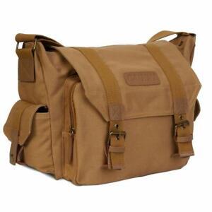 Canvas DSLR Waterproof Shock resistant Camera Case Cover Shoulder Bag for Canon