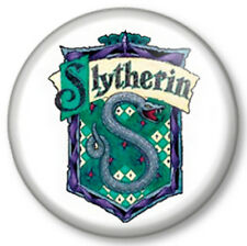 """Slytherin 1"""" 25mm Pin Button Badge Harry Potter House Crest Logo J K Rowling"""