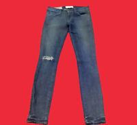 ELIZABETH & JAMES TEXTILE . Debbie . Distressed Skinny Denim Jeans . Size 26/1-2