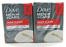 DOVE Men Care Body + Face Bars Deep Clean Purifying Grains  18 Packs / 36 bars