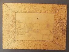 1901 COUNTRY FARM ANIMALS PYROGRAPHIC WOOD ART SIGNED BY ARTIST T. WILKINSON