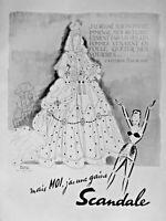 PUBLICITÉ DE PRESSE 1948 MOI J'AI UNE GAINE SCANDALE - CATHERINE II DE RUSSIE