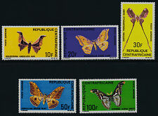 Central Africa C66-70 MNH Butterflies, Moths