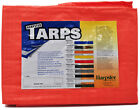 6' x 20' High Visibility Orange Poly Tarp -  Waterproof Camping Woodpile Cover