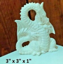 Ornament Dragon ready to paint ceramic bisque Mythical animal Handmade 3 Inch