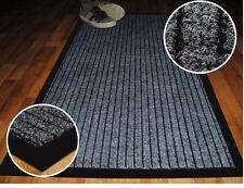 Lavable a Máquina Antideslizante Gris oscuro resistente al desgaste Acanalado barrera Mat 80 X 120 Cm