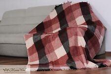 Merino Wool Picnic Blanket 160 x 200 cm. Double blanket double throw