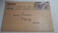 Carte Entreprise Roby - 1947 - De Château Thierry à Crézancy - Sur YT 759