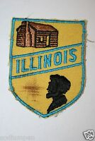 WOW Rare Great Old Illinois State Travel Jacket Hat Shirt Patch Abraham Lincoln