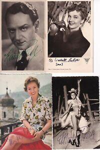 4 Karten - 50er Jahre - original signiert