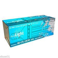 Bombilla CFL Pure Light 200 watios Bajo Consumo Crecimiento 6400ºK Cultivo Grow