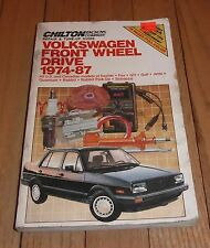 CHILTON'S REPAIR TUNE-UP GUIDE SHOP MANUAL VOLKSWAGEN FRONT WHEEL DRIVE 1974-87