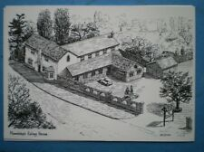 POSTCARD LANCASHIRE MAWDESLEY EATING HOUSE PENCIL SKETCH