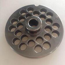 Piastra TC 22 Reber diametro 10 mm acciaio inox per tritacarne elettrico - Rotex