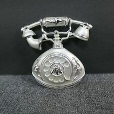Signed Ajc Actually Rings Silvertone Vintage Rotary Telephone Brooch Pin