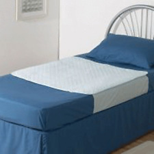 Waterproof, Reusable and Washable Bed Pad with Tuck In Side Flaps 1m x 1m