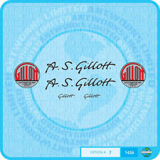 A S Gillott Bicycle Decals Transfers - Stickers - Set 7