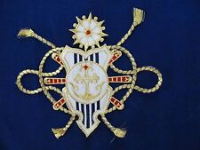 #3243 Marine Golden Rope,Wheel,Anchor Embroidery Iron On Applique Patch