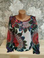 Desigual  women's light blouse  multi color  size XS