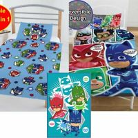 Reversible PJ Masks Superhero Kids Children Bedding Set Single Duvet Quilt Cover