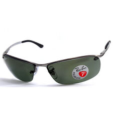 Ray-Ban RB3183 004/9A Top Bar Polarised Gunmetal/Green Men's Sport Sunglasses
