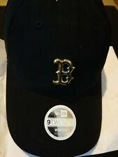 quality design f348a 2737a New Era Boston Red Cap MLB Baseball Black Gold Badge Women s 9Twenty
