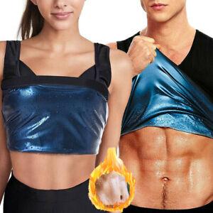 Women Men Sauna Thermo Sweat Vest Waist Trainer Suit Body Shaper Belt Corset USA