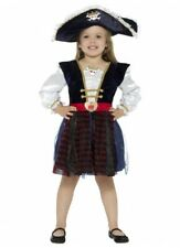 Pirate Glitter Deluxe Girls Costume Age 10-12 Children Kids Buccaneer Dress Up