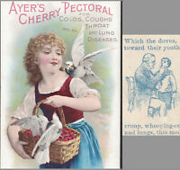 Ayers Cherry Pectoral Cough Cure 19th Century Patent Medicine Bottle Trade Card