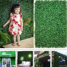"12pcs 24""x16"" Artificial Boxwood Mat Wall Hedge Decor Ties Fence Panel Grass USA"