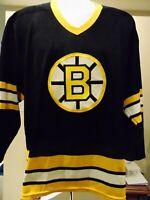 VTG 90's Boston Bruins NHL Maska, CCM Athletic Hockey Jersey Men's Large