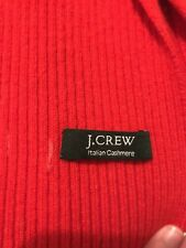 J Crew Red Italian Cashmere Scarf