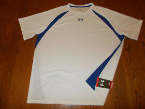 NWT UNDER ARMOUR HEAT GEAR SHORT RAGLAN SLEEVE WHITE ATHLETIC JERSEY MENS 3XL