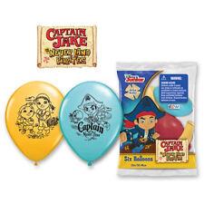 "6 pc 12"" Disney Captian Jake & Neverland Pirates Latex Balloons Party Decoration"
