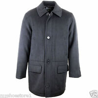 BRAND NEW MENS DESIGNER WARM WINTER WOOL OVERCOAT LONG TRENCH COAT JACKET SIZE