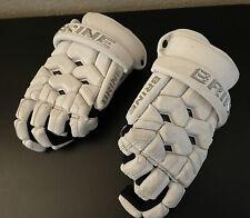 "Brine Triump 2 White Adults Medium 13"" Lacrosse Gloves Field Hockey"