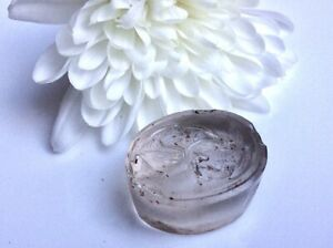 Georgian glass wax fob seal, study of Leda feeding the Swan. Greek mythology.