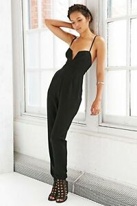The Fifth Label Join The Ride Black Bustier Strap Jumpsuit Tapered Leg Pantsuit
