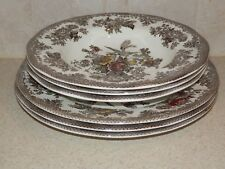 WEDGWOOD CHINA ASIATIC PHEASANTS BROWN MULTI COLOR 6 PIECE BATCH