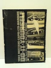 Vintage 1984 Ford Mustang Capri Ltd Marquis Do It Yourself Service Guide