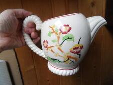 Vintage pitcher ancien pichet broc pot a lait eau faience de LONGWY art deco