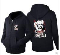 Suicide Squad Harley Quinn Joker Hoodie Cosplay Sweatshirt Zipper Jacket Coat