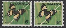 """JAMAICA SG223a 1964 BUTTERFLY 6d """"BLUE OMITTED"""" MNH"""