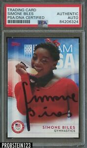 2016 TOPPS TEAM USA SIMONE BILES SIGNED PSA DNA CERTIFIED AUTOGRAPH OLYMPICS