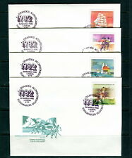 1982 PORTUGAL. Sport FDC. SG 1873-1876. Football, canot, Hockey, bateau, voile