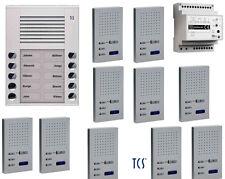 TCS Türsprechanlage Set 10 Wohneinheiten 2-Draht Sprechanlage Freisprechstellen
