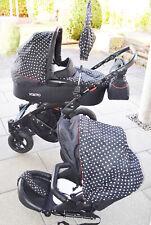 3 in 1 knorr Baby Kinderwagen Kombikinderwagen Voletto Tupfen Schwarz weiß Zubeh