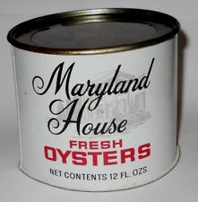 Vintage Maryland House Fresh Oysters 12 oz. Can