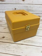 Wilson Wil-Hold Sewing Box Pattern Box w/ dividers, Gold Yellow